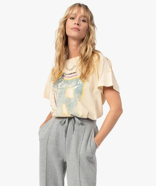 Tee-shirt femme avec large motif – Camps United vue2 - CAMPS UNITED - GEMO