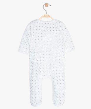Pyjama bébé fille ouverture devant avec motif chat vue3 - GEMO(BB COUCHE) - GEMO