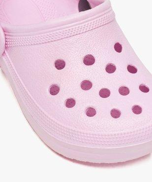 Sabots fille unis perforés avec bride vue6 - Nikesneakers (ENFANT) - Nikesneakers