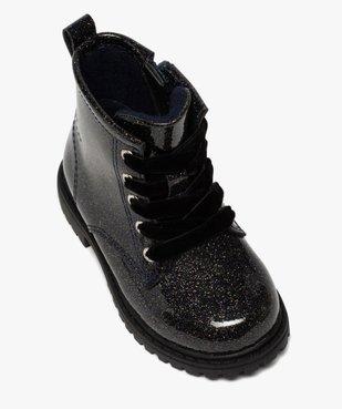 Boots bébé fille vernis et pailletés fermeture zip vue5 - GEMO(BEBE DEBT) - GEMO