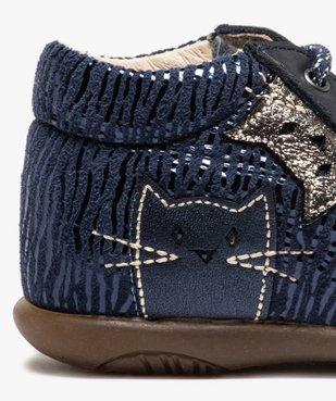 Chaussures premiers pas bébé avec motifs chats - Bopy vue6 - BOPY - Nikesneakers