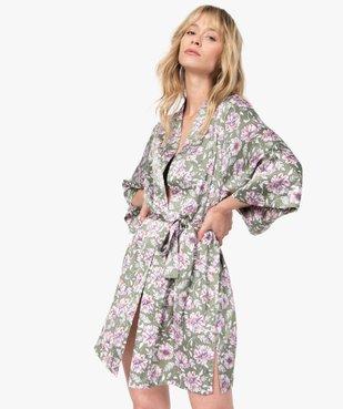 Veste d'intérieur femme à motifs fleuris vue1 - GEMO(HOMWR FEM) - GEMO