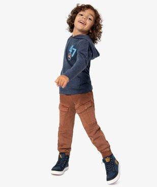 Pantalon garçon multipoches avec taille élastiquée vue1 - GEMO (ENFANT) - GEMO
