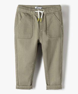 Pantalon bébé garçon en toile avec larges poches plaquées vue1 - Nikesneakers(BEBE DEBT) - Nikesneakers