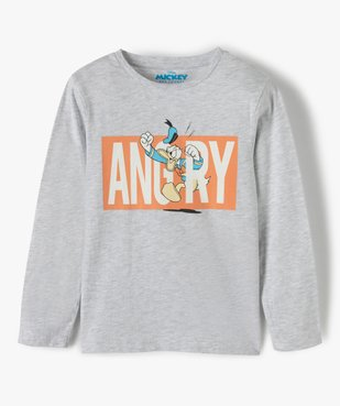 Tee-shirt garçon à manches longues avec motif Donald - Disney vue1 - DISNEY DTR - GEMO