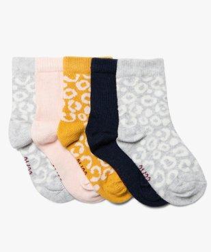 Chaussettes bébé fille imprimée (lot de 5) vue1 - Nikesneakers C4G BEBE - Nikesneakers