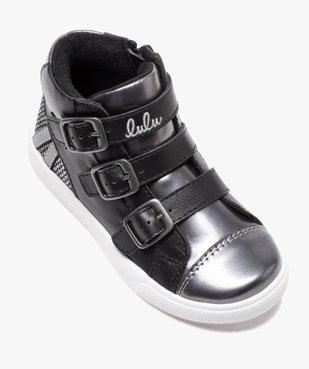 Baskets fille mid-cut zippées dessus métallisé - Lulu Castagnette vue5 - LULU CASTAGNETT - Nikesneakers