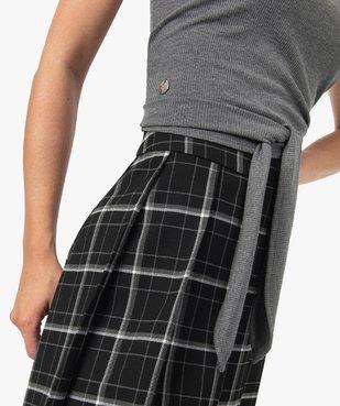 Tee-shirt femme avec lien à nouer - LuluCastagnette vue2 - LULUCASTAGNETTE - GEMO