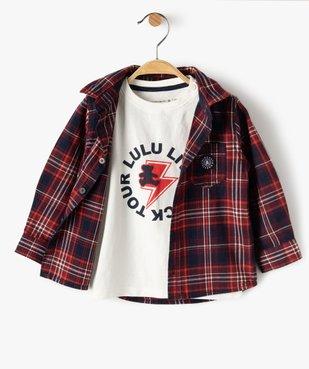 Ensemble 2 pièces bébé garçon : chemise + tee-shirt - Lulu Castagnette vue1 - LULUCASTAGNETTE - GEMO