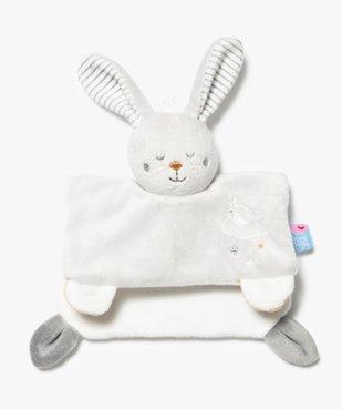 Doudou bébé taille mini avec tête de lapin – Sucre d'Orge vue1 - SUCRE D'ORGE - GEMO