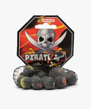 Lot de billes en verre opaque - Pirate Kim'Play vue1 - KIM PLAY - GEMO