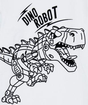Tee-shirt garçon à manches longues avec motif dinosaure vue2 - GEMO (ENFANT) - GEMO