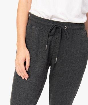 Pantalon de jogging femme en jersey molletonné vue2 - GEMO(FEMME PAP) - GEMO