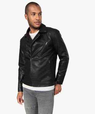 Blouson homme look motard imitation cuir vue1 - GEMO (HOMME) - GEMO