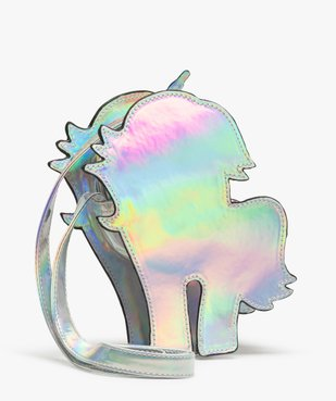 Sac fille multicolore à motif licorne  vue2 - GEMO (ENFANT) - GEMO