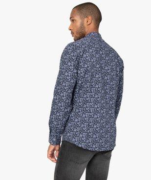 Chemise homme à manches longues à motifs repassage facile vue3 - GEMO (HOMME) - GEMO