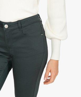 Pantalon femme coupe slim en toile extensible vue2 - GEMO(FEMME PAP) - GEMO
