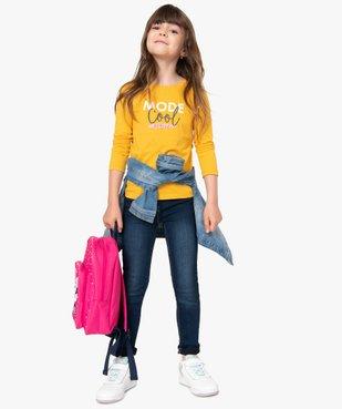 Tee-shirt fille à manches longues et motif sur l'avant vue5 - GEMO C4G FILLE - GEMO