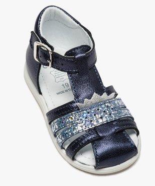Sandales premiers pas bébé fille à reflets métallisés vue5 - Nikesneakers(BEBE DEBT) - Nikesneakers