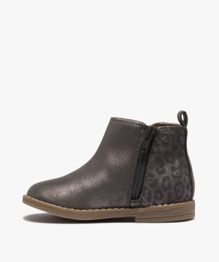 Boots fille à talon plat et reflets métallisés vue3 - Nikesneakers (ENFANT) - Nikesneakers