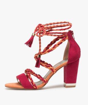 Sandales femme talon haut - Gémo x Lalaa Misaki vue3 - GEMO(URBAIN) - GEMO