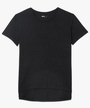 Tee-shirt femme à manches courtes avec dos plus long vue4 - GEMO(FEMME PAP) - GEMO