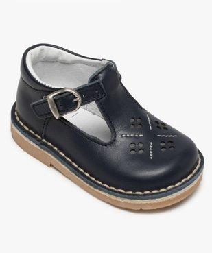 Chaussures bébé garçon ouvertes dessus et intérieur cuir vue5 - GEMO(BEBE DEBT) - GEMO
