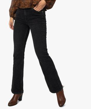Jean femme coupe Bootcut taille haute vue1 - GEMO(FEMME PAP) - GEMO