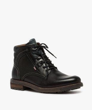 Boots homme zippés à lacets dessus cuir et col rembourré vue2 - Nikesneakers (CASUAL) - Nikesneakers