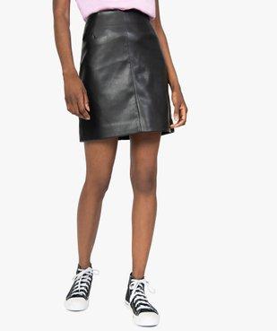 Jupe femme droite avec pinces à la taille vue2 - GEMO(FEMME PAP) - GEMO