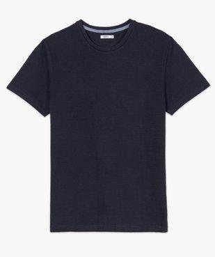Tee-shirt homme 100% coton biologique en maille texturée vue4 - GEMO (HOMME) - GEMO