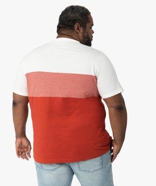 Tee-shirt homme tricolore avec poche poitrine vue3 - GEMO (G TAILLE) - GEMO