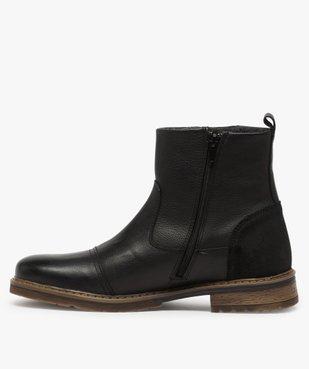 Boots homme zippés dessus cuir et doublure chaude vue3 - Nikesneakers (CASUAL) - Nikesneakers