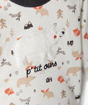 Ensemble bébé garçon 3 pièces : tee-shirt + foulard + pantalon - Sucre d'Orge vue2 - SUCRE D'ORGE - GEMO