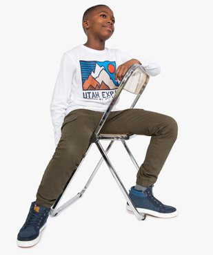 Tee-shirt garçon à manches longues imprimé vue5 - GEMO (JUNIOR) - GEMO
