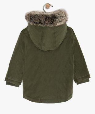 Blouson bébé garçon doublé sherpa avec capuche  vue3 - GEMO(BEBE DEBT) - GEMO