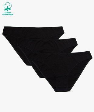 Culottes femme unies avec coutures plates (lot de 3) vue1 - GEMO C4G FEMME - GEMO