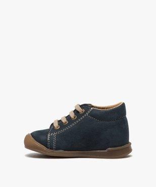 Chaussures premiers pas bébé garçon motif ourson vue3 - GEMO(BEBE DEBT) - GEMO
