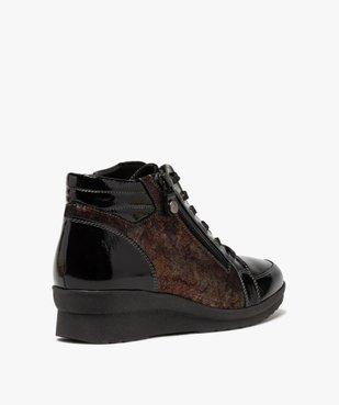 Boots femme confort zippées à talon compensé  vue4 - GEMO (CASUAL) - GEMO
