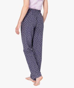 Pantalon de pyjama femme à motifs fleuris vue3 - Nikesneakers(HOMWR FEM) - Nikesneakers