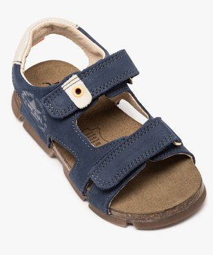 Sandales garçon tout terrain en cuir à scratchs - Bopy vue5 - BOPY - GEMO