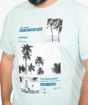 Tee-shirt homme avec motif palmiers à Miami vue2 - GEMO (G TAILLE) - GEMO