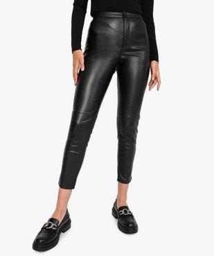 Pantalon femme en matière synthétique coupe slim vue1 - GEMO(FEMME PAP) - GEMO