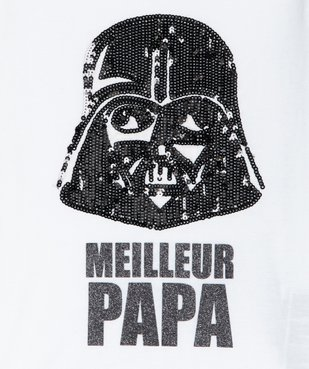 Tee-shirt fille motif brillant Dark Vador - Star Wars vue2 - STAR WARS - GEMO