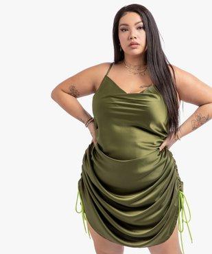 Robe femme à fines bretelles  et col bénitier - Gémo x Lalaa Misaki vue2 - GEMO (G TAILLE) - GEMO