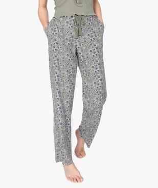 Pantalon de pyjama femme à motifs fleuris vue1 - GEMO(HOMWR FEM) - GEMO
