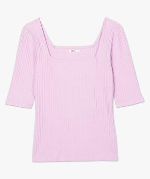 Tee-shirt femme à manches courtes en maille côtelée vue4 - Nikesneakers(FEMME PAP) - Nikesneakers