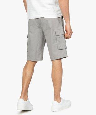 Bermuda homme avec larges poches à rabat vue3 - GEMO (HOMME) - GEMO