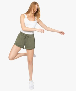 Short femme en maille coupe large vue1 - GEMO(FEMME PAP) - GEMO