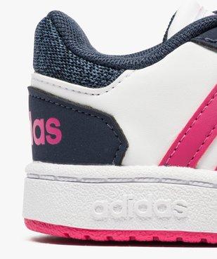 Basket basse tricolore à scratchs - Adidas Hoops 2.0 CMF vue6 - ADIDAS - GEMO